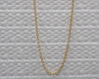 CLEARANCE! 22 k Gold Necklace, Handmade Gold Chain, Gold Necklace, Gift for Her, Gift for Mom, Genuine Fine Jewelry, Mothers Day Gift,