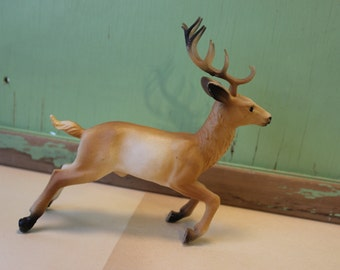 Vintage Plastic Deer, Buck,  ONE DEER