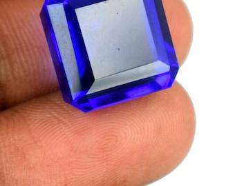 19.10 Ct Brazilian 15 x 14 mm Octagon Cut Blue Topaz Loose Gemstone