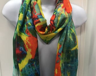 Hodansart digital art scarf,abstract art scarf, women's scarf.