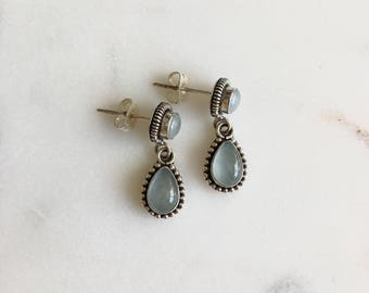 Madagascan Aquamarine Drop Earrings