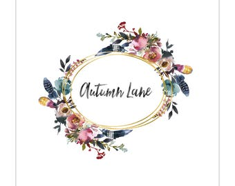 Premade Logo Design | Floral Logo | Photography Logo | Watercolor Logo | Business Logo | Blog Logo | Feminine Logo | Flower Logo | Gold Foil
