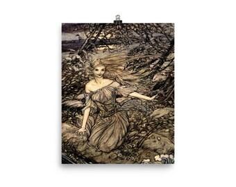 Arthur Rackham Undine Art Print Reproduction Poster Photo Poster
