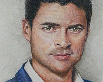 Karl Urban / Eomer print of colored pencil drawing
