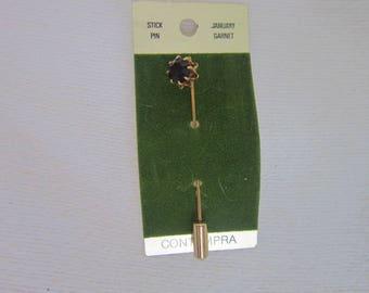 Designer Contempra January Birthstone Garnet Stickpin Never used