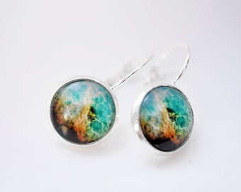 Cosmos universe cabochon earrings