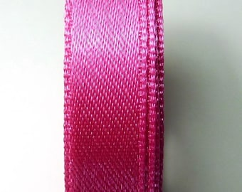 By the yard Fuchsia 1.33 b 13 mm satin ribbon