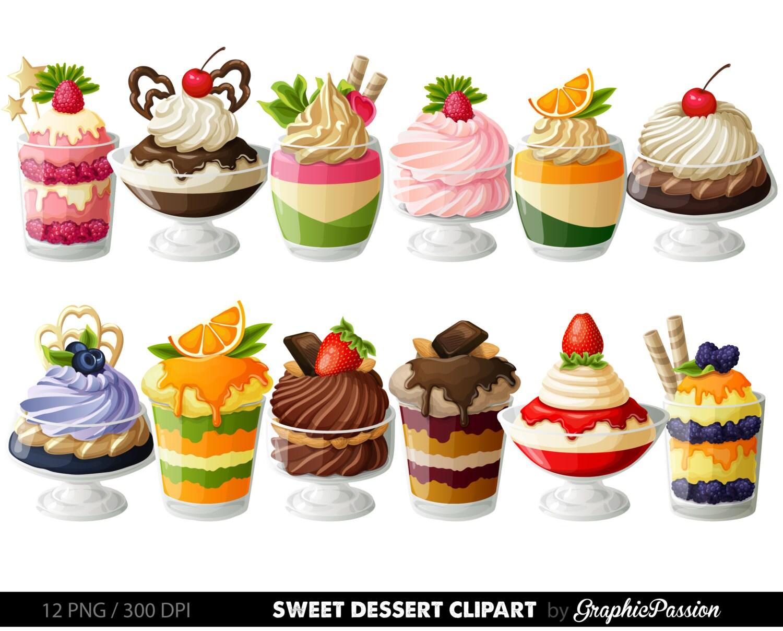 desserts digital clipart cake clip art sweet treat digital rh etsy com dessert clip art pictures desert clip art images