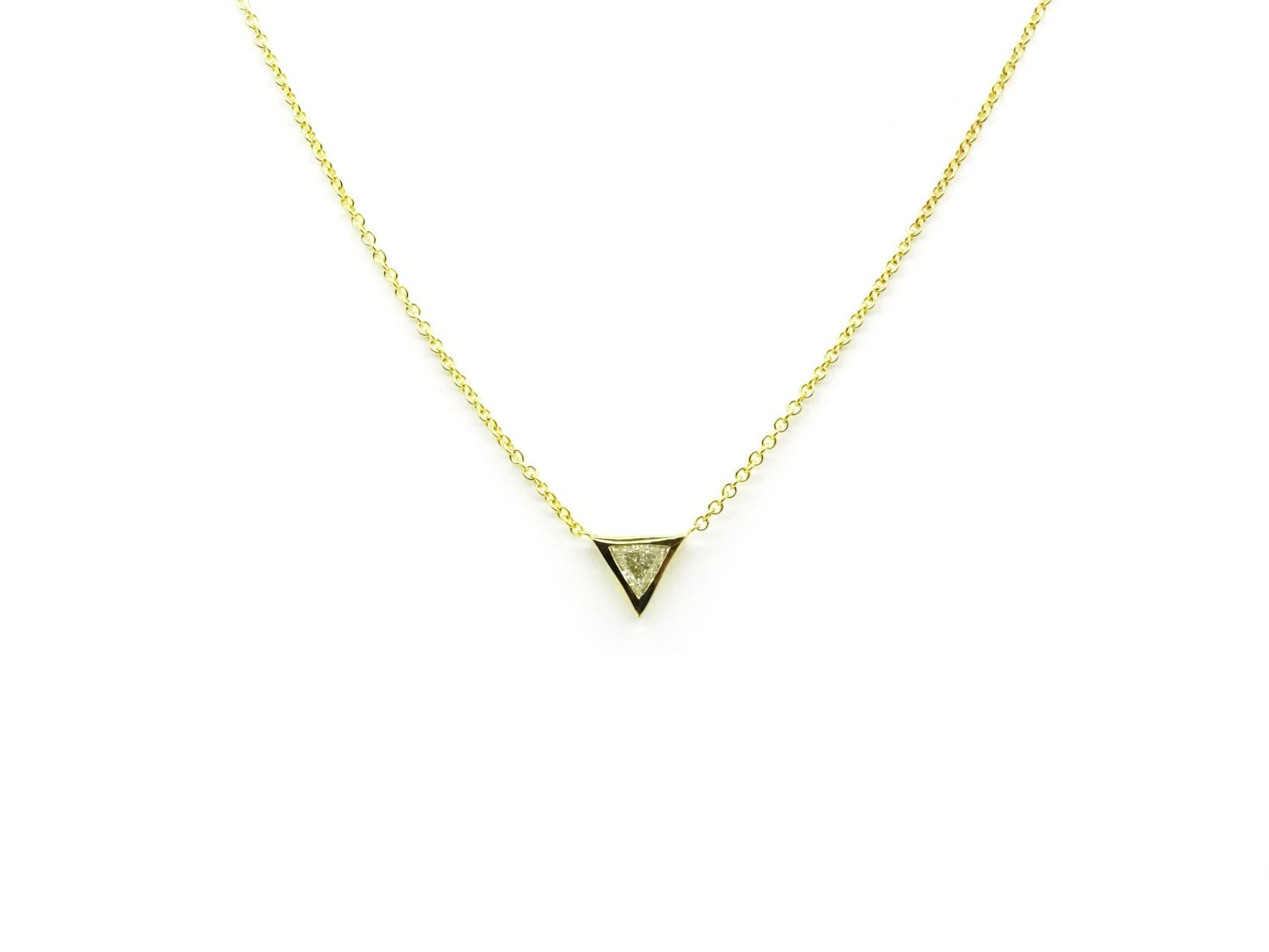 Promo sale trillion diamond necklace triangle pendant simple trillion diamond necklace triangle pendant simple diamond necklace diamond pendant thin gold diamond necklace aloadofball Gallery