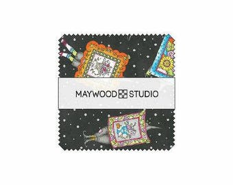 Salem Quilt Show, Halloween, Witches - Meg Hawkey Crabapple HIll for Maywood Studios - 5-Inch Square Pack, 42 pieces