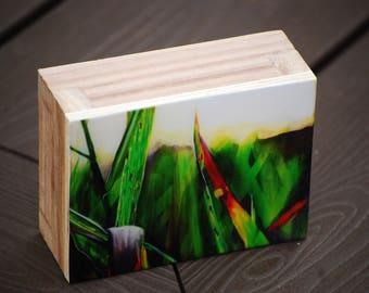 "resined print of original painting ""grasslands"", 3x4"", landscape painting, prairies, grasses, realsim"