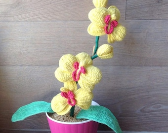 knitted orchid crochet orchid