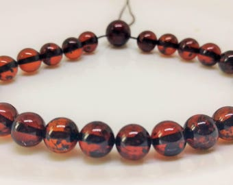 10 baltic amber beads