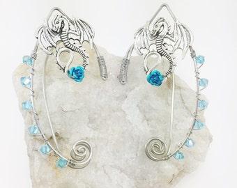 Elven Ear Cuffs - Elf Ears - Pointed Elven Ears - Fairy Ears - Ear Cuffs - Gothic Jewelry - Dragon Ear Cuffs - Elf Ear Cuffs - Elven Jewelry