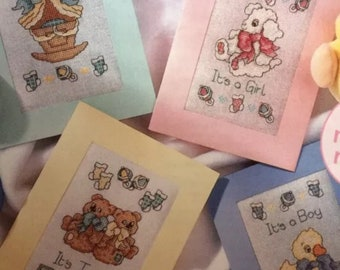 4 x Cards For Baby Cross Stitch  Charts