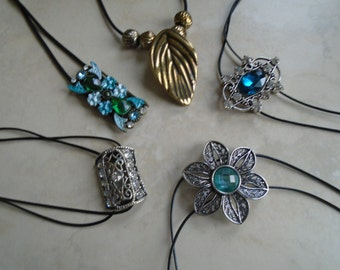 Cord Chokers with Pendant