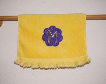 Flower Monogram Fingertip Towel *Made to Order*