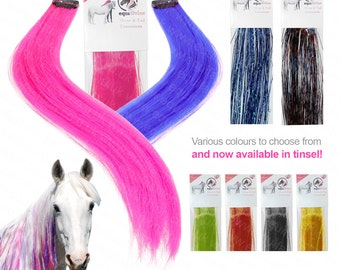 Equifashion Horse and Pony Mane & Tail Colour Extensions - Pack of 3