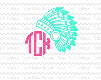 Feather Head Dress SVG, DXF, EPS, Instant Download, Digital Design