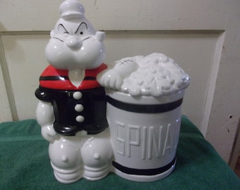 1995 POPEYE and Spinach Can Cookie Jar