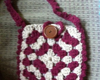 Crocheted Granny Square Purse #137
