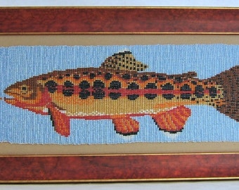 Golden Trout Fish Art Decorative Wall Hanging