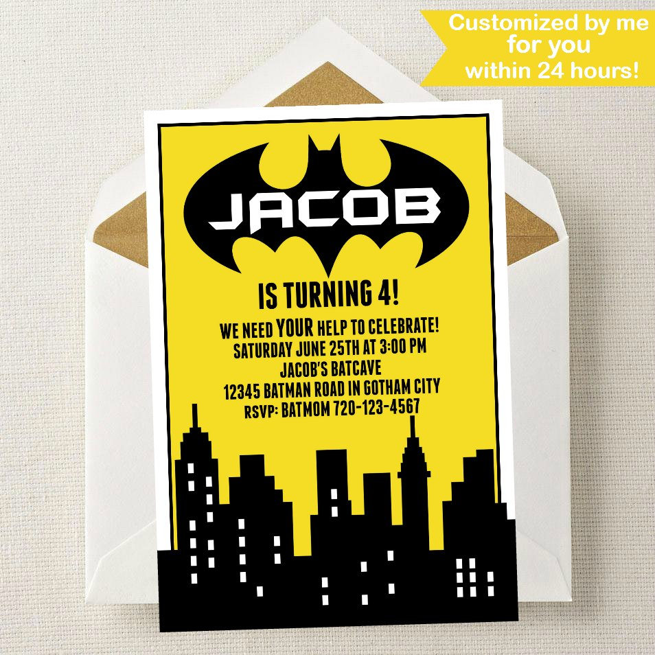 Batman Invitation // Batman Party Invitation // Batman Invite