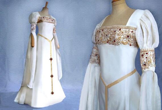 Elf wedding dress CALEYA medieval Renaissance Galadriel Arwen