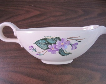 Homer-Laughlin Rhythm Violet Gravy Boat W152