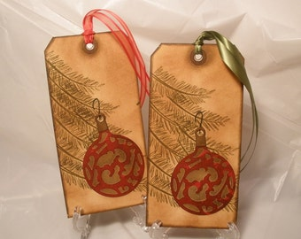 Vintage Christmas Ornament Tags, Large