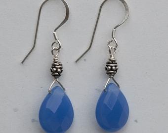 Blue Quartz Earrings
