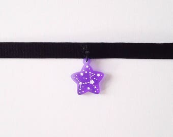 Acrylic necklace or choker - Galaxy Star + Canis Major - Year of the Dog