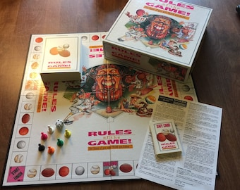 """Vintage Board game/1995 """"Rules of the Game"""" for those of you who think you know/Family Game night/Football/Basketball/Baseball/Golf"""