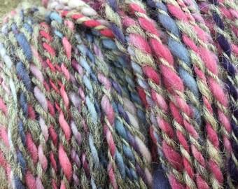 360 g of hand dyed and hand spun yarn