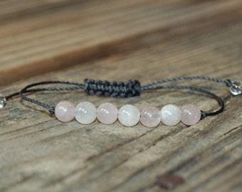 Moonstone, Rose Quartz, Crystal Healing, Yoga Bracelet, Meditation Bracelet, Heart Chakra, Solar Plexus Chakra, Fertility, Childbirth, Love