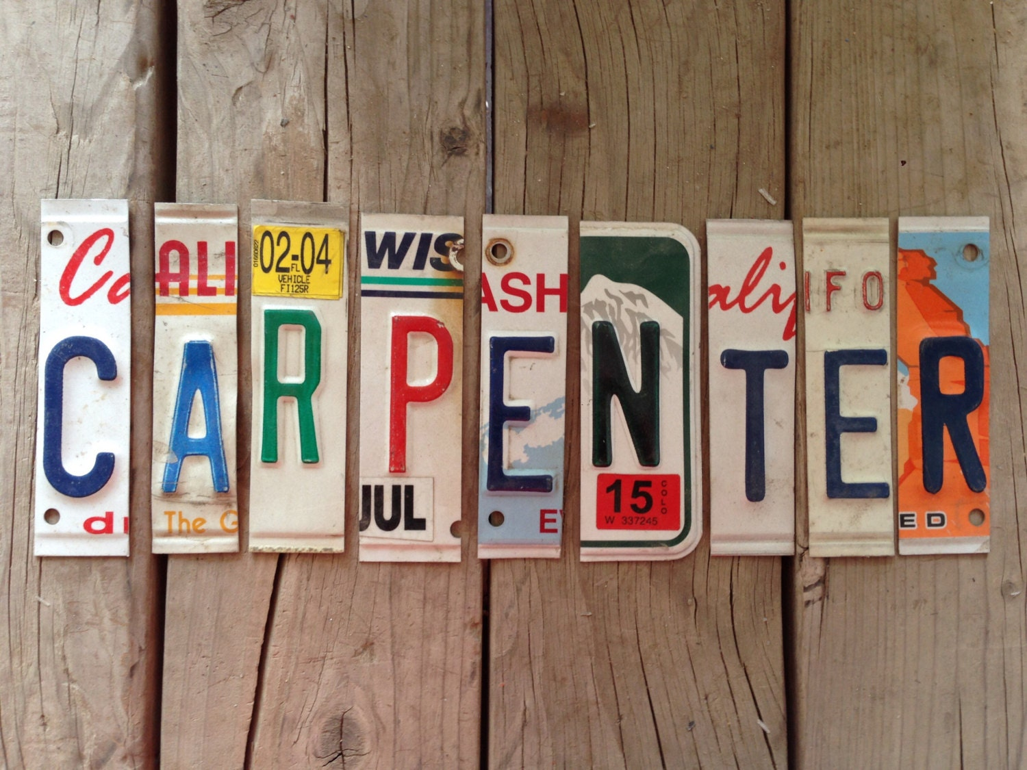 Pick your letter (A-Z) Used license plate - cut up license plates ...