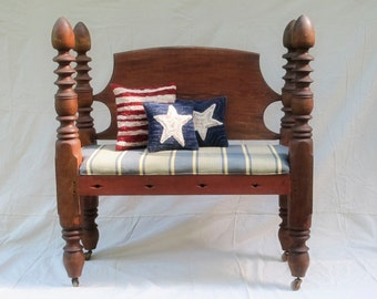 Antique Four Poster Bench