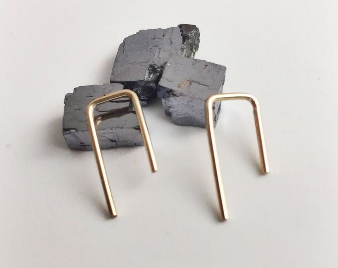 gold ear pins