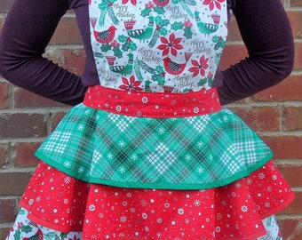 Vintage Holiday Apron