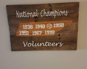 TN Vols championship sign
