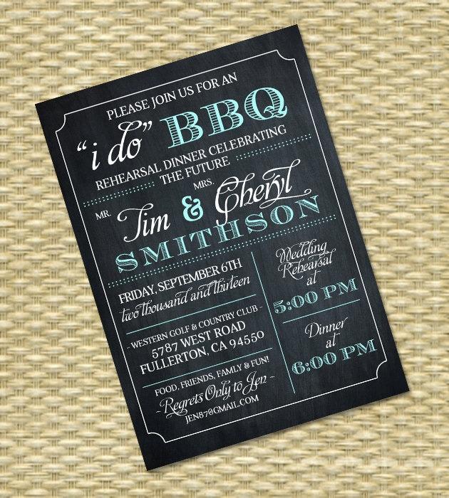 I Do BBQ Invitation Rehearsal Dinner Invite Couples Shower
