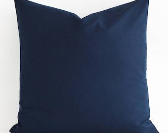 Cotton Navy Blue Pillow, Decorative Pillow Cover, Navy Pillow Cover, Navy Blue Throw Pillow, Blue Cushion, Navy Blue Pillow, Accent Pillow
