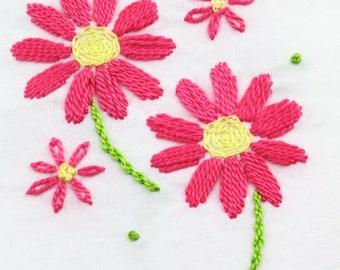 daisy hand embroidery pattern daisy embroidery daisy design