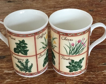 Herb Vintage Mugs