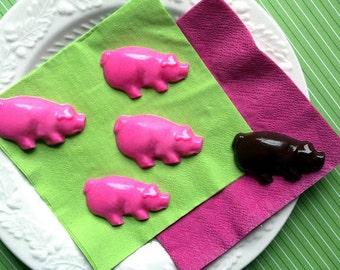 Mini Gourmet Chocolate pigs (30 pieces / aprox. 8oz.)