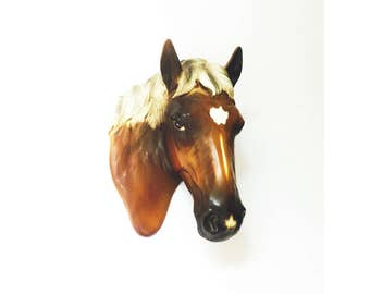Vintage Ceramic Horse Head Wall Hanging