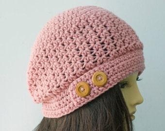 Women's Hat Crochet Pattern,  Slouch Hat Pattern, Instant Download, PDF Pattern