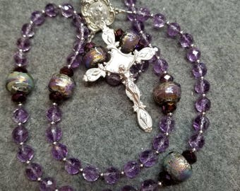 Ultimate Amethyst Rosary  Sterling Silver  by HeartFelt Rosaries