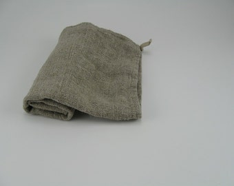 Handmade Linen Exfoliating Towel / Face and Body Daily Exfoliating Towel / Spa Wash Cloth / Natural / Dye Free / Set of 2
