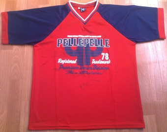 PELLE PELLE jersey, vintage t-shirt, Marc Buchanan hip hop shirt of 90s hip-hop clothing gangsta size L Large